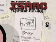 The binding of isaac title screen