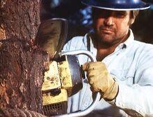 Target in the Sky - Steve as lumberjack