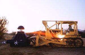 Return of Deathprobe - Laser against bulldozer