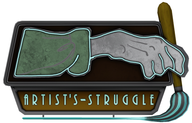 File:The Gallery of the Artist's Struggle sign.png