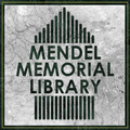 Mendel Memorial Library sign.png