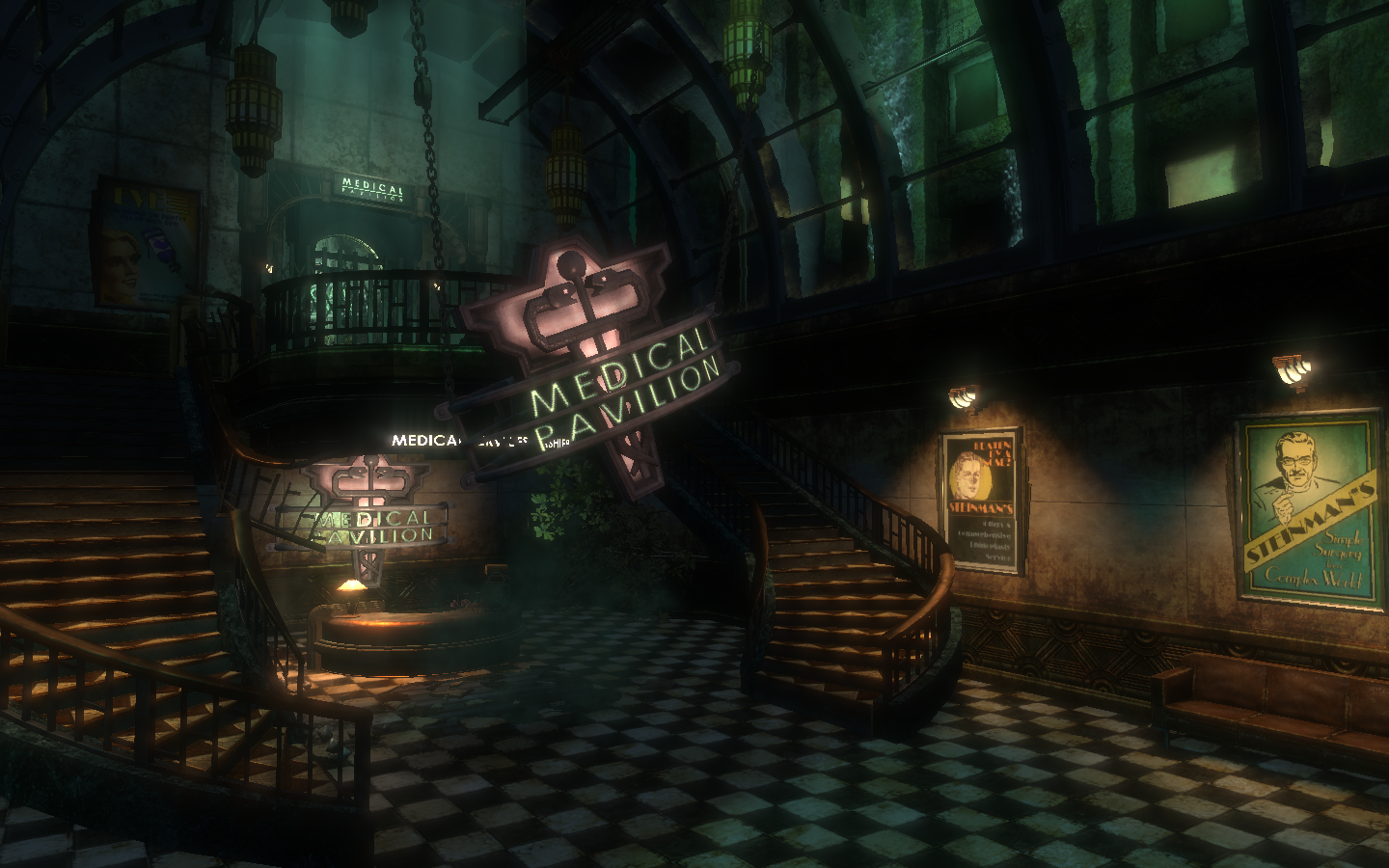Foyer Wallpaper Xbox : Medical pavilion bioshock wiki fandom powered by wikia