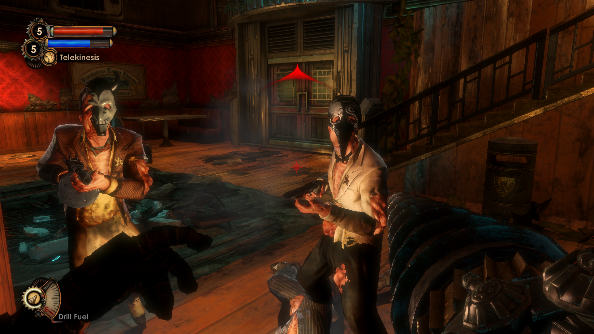 Before they see and attack you, Splicers make noise, indicating their presence to the player