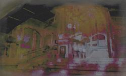 Cohen's Collec Painting-Train Station Conc
