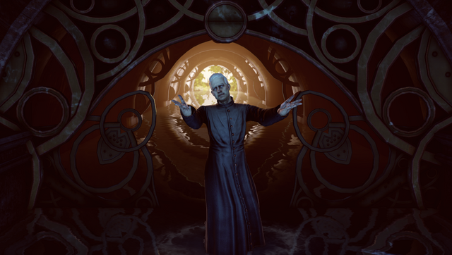 File:BioShock Infinite - Town Center - Welcome Center - Preacher Witting-hand open f0811.png