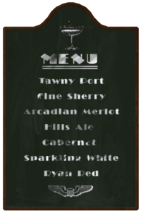Worley Winery Menu