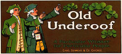 Old Underoof Whiskey advertisement