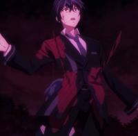 Kohina stabs Rentaro from behind