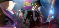 Hazama (Centralfiction, arcade mode illustration, 3, type A)