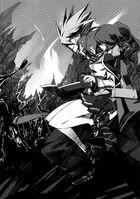 BlazBlue Phase Shift 3 (Black and white illustration, 5)
