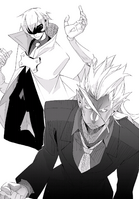 BlazBlue Bloodedge Experience Part 1 (Black and white illustration, 4)