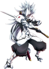 Hakumen (Centralfiction, Character Select Artwork)