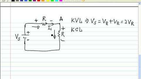 Kirchoff's Voltage Laws - Example 1 (Quick Intro & Application)
