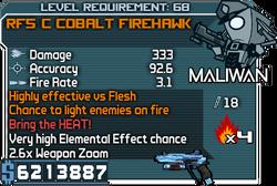 RF5 C Cobalt Firehawk