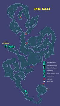 Skag Gully Map
