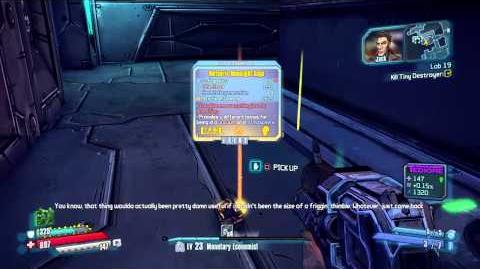 Borderlands The Handsome Collection Tiny Destroyer legendary Drop