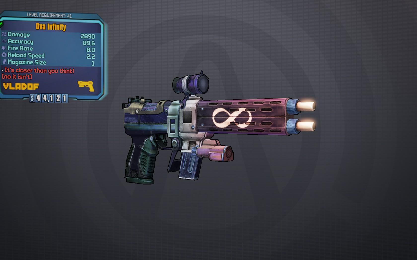 borderlands the pre sequel how to get infinity pistol