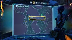 Borderlands2 fire totem 9 map