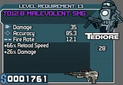 Tediore TD12-B Malevolent SMG