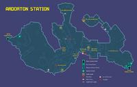 Adorton Station Map