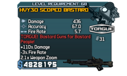 HVY30 Scoped Bastard 436