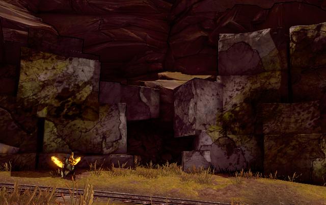File:Borderlands2 Minecraft Cave Entrance.png