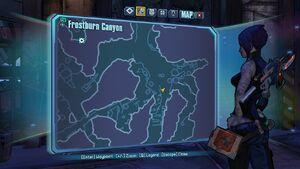 Borderlands2 frostburncanyon echo 1 map