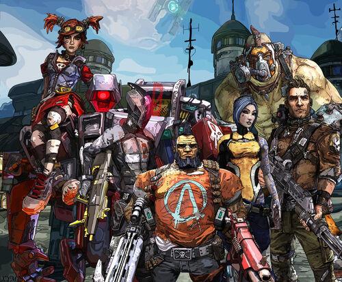 Borderlands 2 vault hunters by xpand your mind-d6ontm4