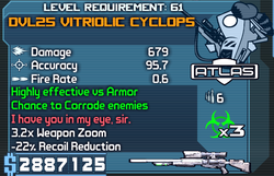 DVL25 Vitriolic Cyclops