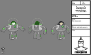 Main model Beth in space suit