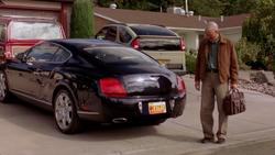 Gretchen's Gray Matter plates on Bentley Continental (Peekaboo)