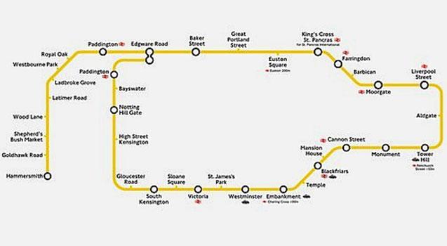 Image - Circle line map.jpg | british transport wiki | Fandom powered ...
