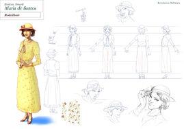 Maria de Santos modelsheet
