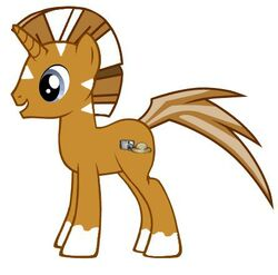 If I was a pony I would be a quagga with a horn