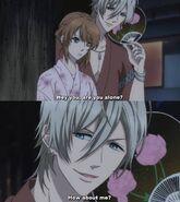 Chiaki flirting Ema