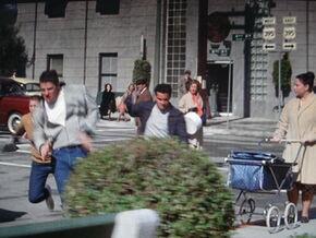 Biff and gang chase 1955
