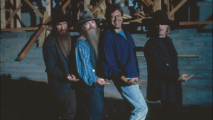 ZZ Top and Robert Zemeckis on location of Back to the Future Part III