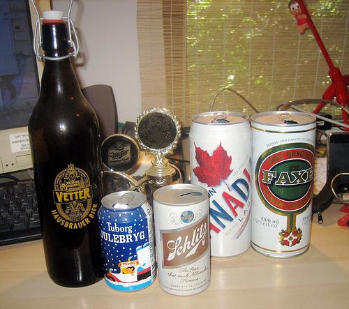 File:Some old beer empties.jpg