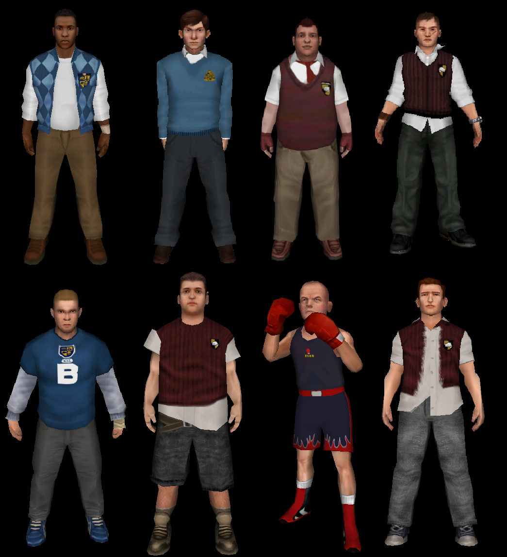 Image - Beta Bully Characters develop.png | Bully mods ...