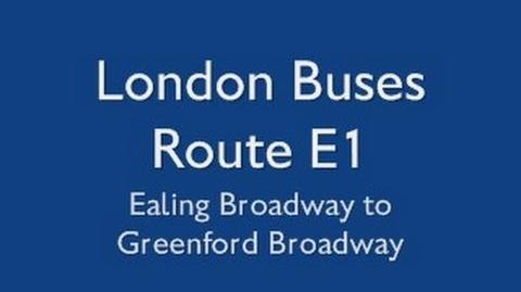 London Buses Route E1-1