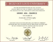 Doctorate of Buzzology