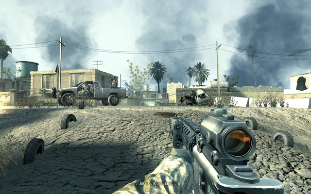 File:Drive by shooting from .50cal gunner Charlie Don't Surf CoD4.png