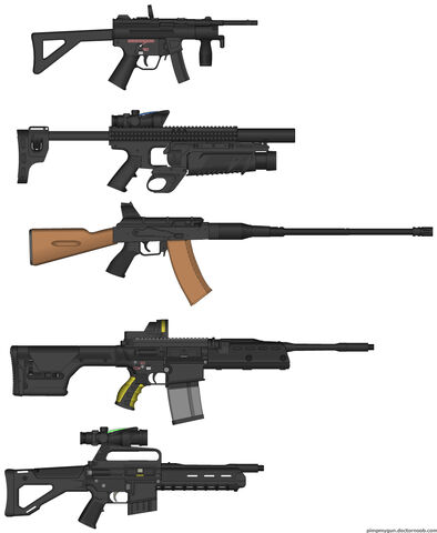 File:PMG Foxtrot12's five assault weapons.jpg