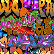 Graffiti Camouflage texture BOII