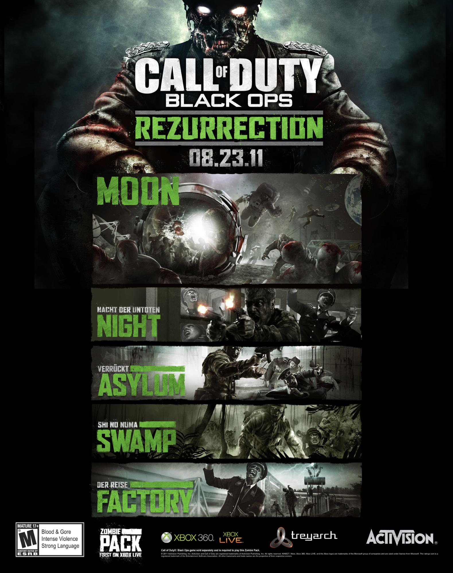 Call of Duty: Black Ops Rezurrection - Zombies Map Pack ...