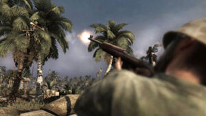 U.S Soldier shoots Japanese in Tree CoD5