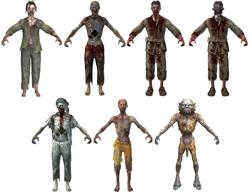 shangri la zombie character models bo