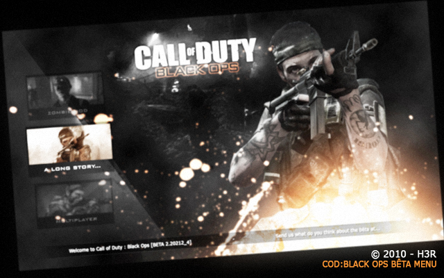 Black Ops fake beta menu