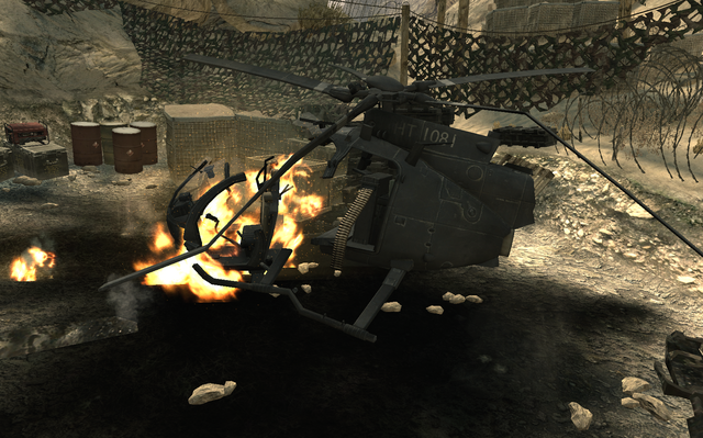 File:Crashed AH-6 Little Bird Just Like Old Times MW2.png