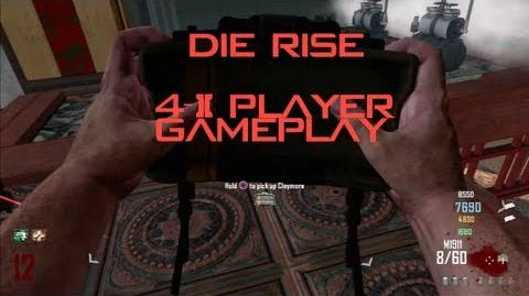 Die Rise 2-4 player Gameplay - Call of Duty Black ops 2 Zombies (Die Rise)